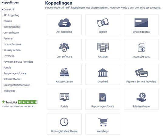 Koppelingen e-Boekhouden.nl