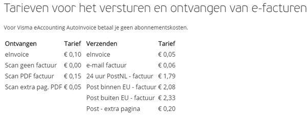 tarieven-e-facturatie-visma